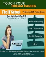 The IT School Flyer by pakiboy