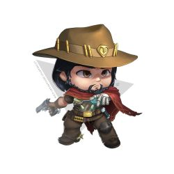 McCree Chibi by LCTheArtist