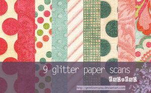 Glitter Paper Scans by gemlovesyou