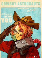 cowboy astronauts by spacedrunk