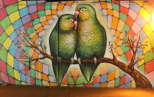 Love Birds Grafitti by boogster11