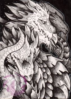 Inktober Day 21 ~ Hydra by Idlewings