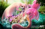 Lickitung VS Slowbro  - Pokemon Battle Art by SimonGangl