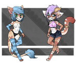 [OPEN 1/2] Mixed Anthro Adopts by Esarts-Adopts