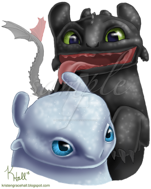 Toothless and His Fair Lady by Unicornarama