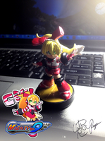 Call - Mighty No. 9 Custom Amiibo Figure by BouncekDeLemos