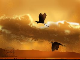 Evening Flight by Karinart8
