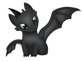 Toothless by Tiger-quoll