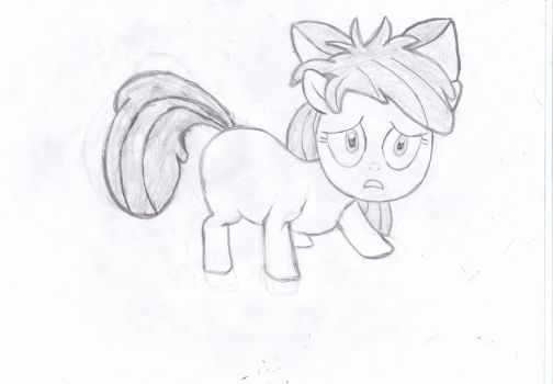 Apple bloom bad mane Drawing by LeonBrony