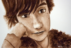 Hiccup Surpise Smile Watercolo by masterrohan