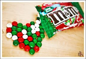 Mint Chocolate Christmas M+Ms by ieatSTARS