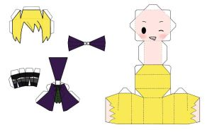 Chibi Alois Trancy Papercraft by TheMistressOfAnime
