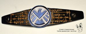 Director Coulson Leather Cuff by CoreyChiev