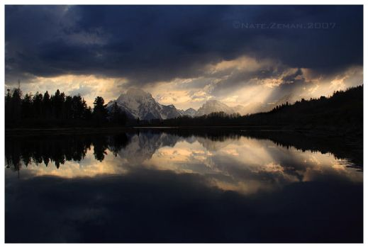Oxbow Bend Sunset by Nate-Zeman