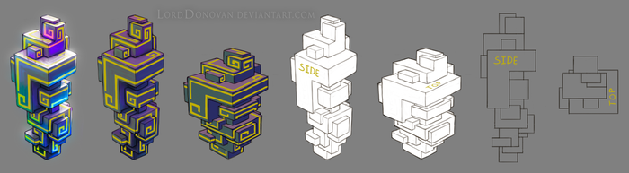 Crystal Core Bismuth Knowledge Crystal Model Sheet by LordDonovan