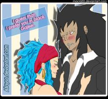 Gajeel x Levy by_allaysa colored by macriz05