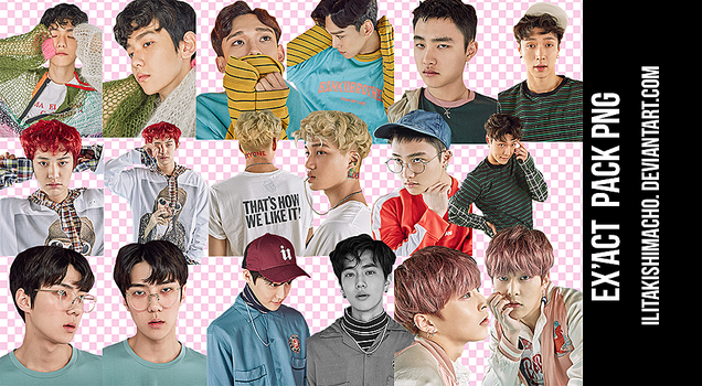 EXO PNG PACK - EX'ACT COMEBACK by IliTakishimaCho