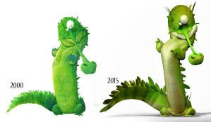 Croc now and then by JBVendamme