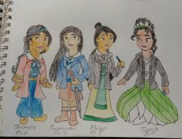 Disney princeses crossover Dr Who drawing 2 by Bella-Who-1