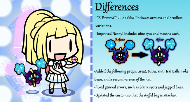 Custom Walfas - Lillie -and Cosmog!- by Plucky-Nova
