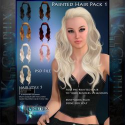 Instant Hair PSD Stock - Nica   hi res 300dpi by MakeMeMagical