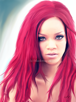 Rihanna painting by perlaque