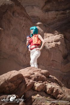 Cosplay: Baby Trunks and Bulma Android Saga by Adella