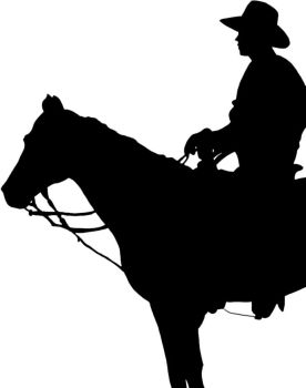 Cowboy Silhouette by RancidAlice