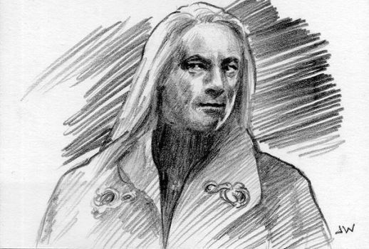 Lucius Malfoy Sketch Card ACEO by Stungeon