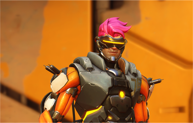 Solder86 with Zarya hair by Rasmez