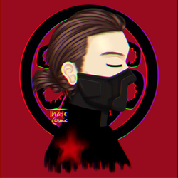 Winter Soldier but with a hair bun??? by thistlecosmic