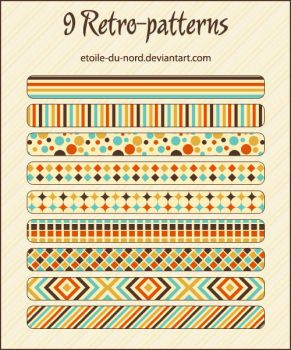 retro-patterns by Etoile-du-nord
