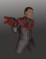 Dec21 - Ultimate Spiderman: Miles Morales by Dphan366
