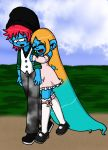 Love Couple 9 :  Moon Star  and Rocky Smurf by sandapolla