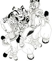 Tai Lung and his Ladies by ikara69
