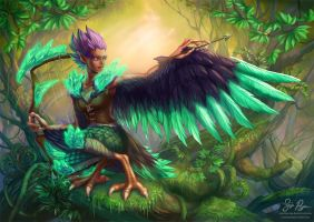 Woodland Harpy by Risachantag