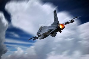F-16. After burner... by ragamuffin900