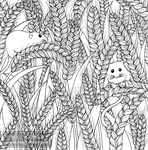 Autumn - Harvest (The Wild Colouring Book) by megcowley