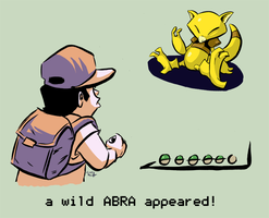 a wild ABRA appeared by CraigArndt