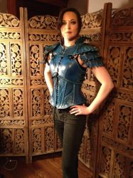Women's Leather Armor, in action- Blue Jay by SavagePunkStudio