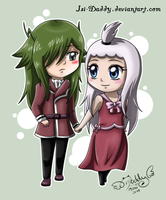 CM: Chibi Fried and Mirajane by Isi-Daddy