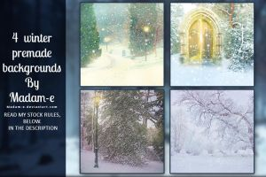 Winter Premade Backgrounds Pack by Madam-e