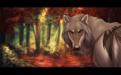 Red Forest by InstantCoyote