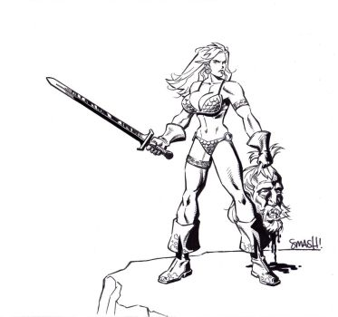 Red Sonja Commission Inked by ChuckSmash
