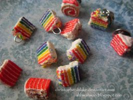 Assorted Cake Charms and Pins by TheMiniatureBazaar