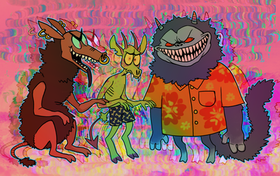 oh sees beasts by TUVVIN
