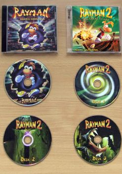 Rayman 1 and 2 Soundtracks CD labels by NemoNemini