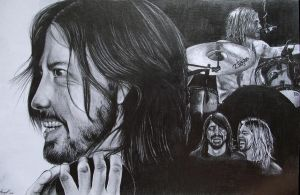 Dave Grohl and Taylor Hawkins by Mishice