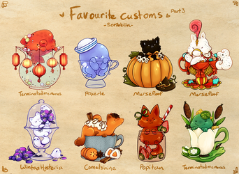 Favourite Teacat customs 3 by scribblin