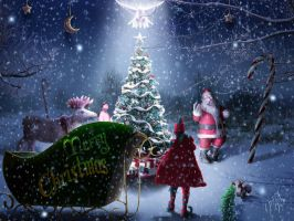 Merry Little Christmas by jesus-at-art
